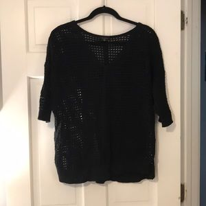 V neck cut out black sweater!